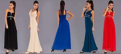 Krásne dámske spoločenské šaty